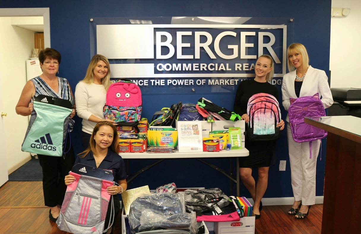 Berger Commercial Realty Back to School Drive